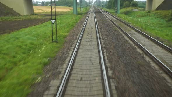 Thumbnail for View At The Rails Of Running Away Train 5