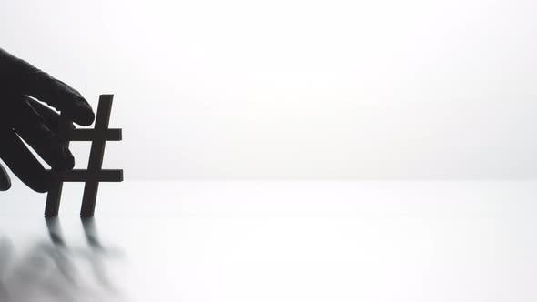 PANDEMIC Hashtag on Light Background