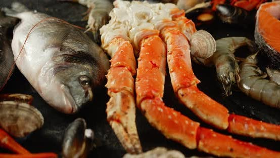 Thumbnail for Crab, Fish and Other Seafood on the Table