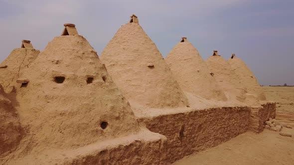 Harran Beehive Houses that Conic Roofs Mudbrick Wall, Urfa, Turkey
