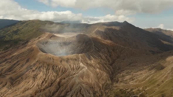 Cover Image for Active Volcano with a Crater. Gunung Bromo, Jawa, Indonesia