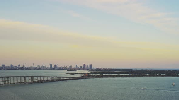Thumbnail for Aerial view of Biscayne Bay in Miami