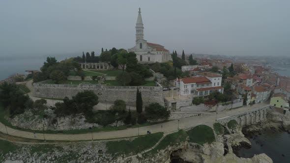 Thumbnail for Aerial view of St. Euphemia basilica in Rovinj