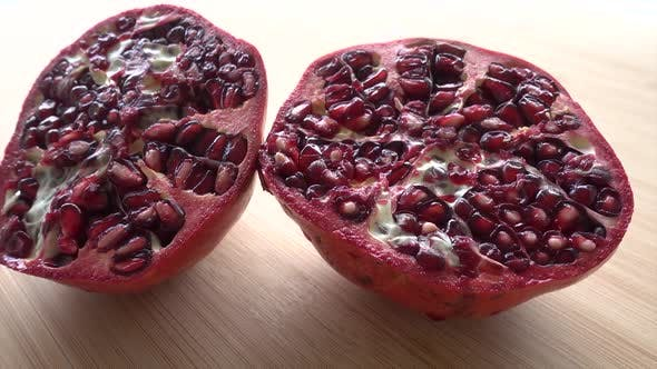Cover Image for Pomegranate on a Wood Background