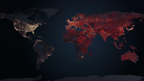 Thumbnail for Corona Virus Map Disease Spreading