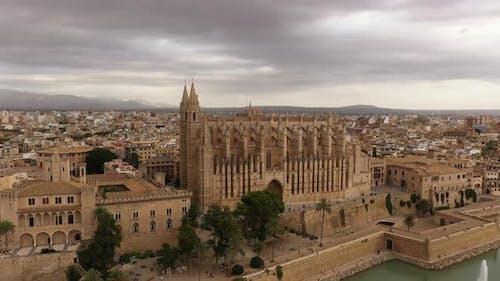 Cathedral of La Seu Majorca in Palma De Mallorca at Balearic Islands
