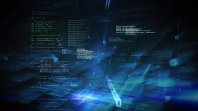 Data information on dark background