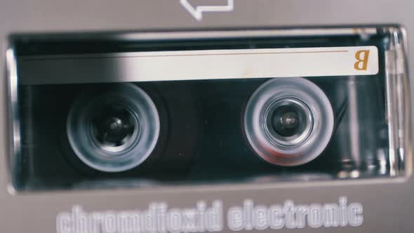 Thumbnail for Rewind an Audio Cassette Tape Inserted Into a Tape Recorder