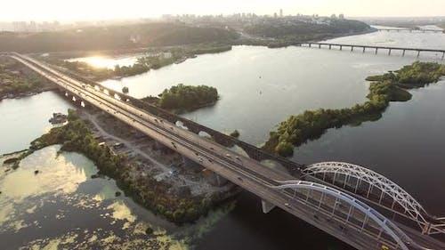 Aerial Bridge Sunset