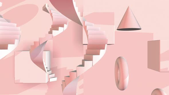 Thumbnail for Abstract Stair 02 4k
