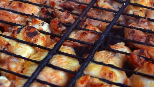 Thumbnail for Delicious Chicken Barbecue On Coal Fire