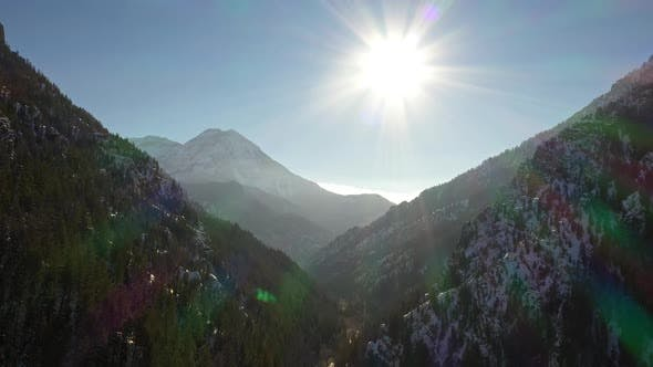 Thumbnail for Flying over American Fork Canyon viewing the layers of the mountains
