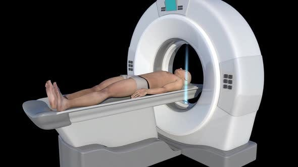Man Who Undergoes A Ct Scan
