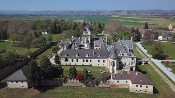 Thumbnail for Aerial View of Grafenegg Castle, Austria