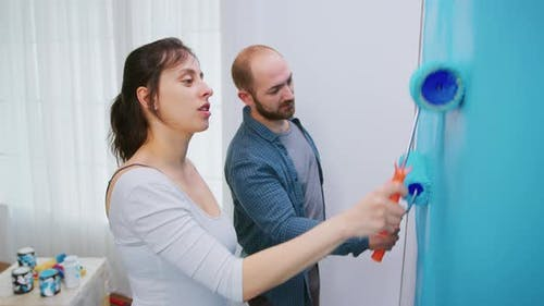 Girlfriend and Boyfriend Painting Wall