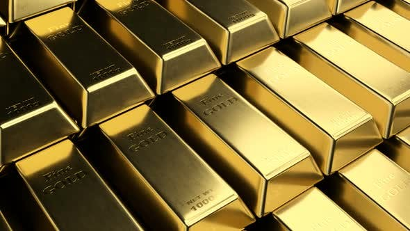 Cover Image for Close-up View of Fine Gold Bar Stacks