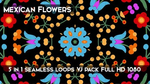 Mexican Flowers Background
