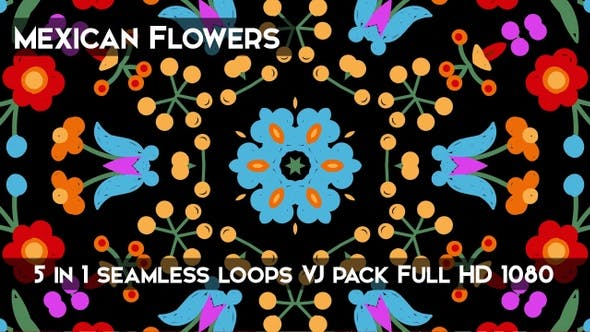Thumbnail for Mexican Flowers Background