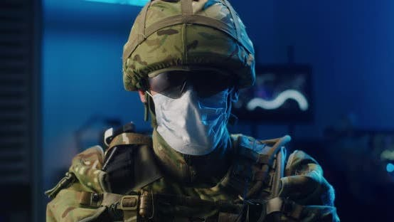 Thumbnail for Soldier Wearing Face Mask
