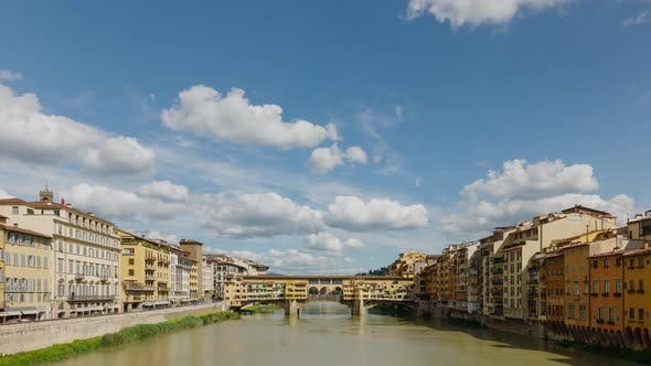 Thumbnail for Time Lapse of the historic Ponte Vecchio bridge in Florence Italy