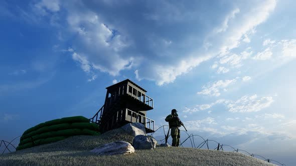 Thumbnail for Soldier Watching the Military Watchtower