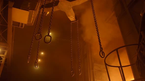 Thumbnail for Heavy Lifting Chains By the Blast Furnance at a Metallurgical Plant