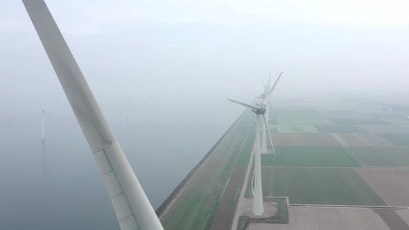 Thumbnail for Aerial View of a Giant Wind Turbine Blade Used for Renewable Energy