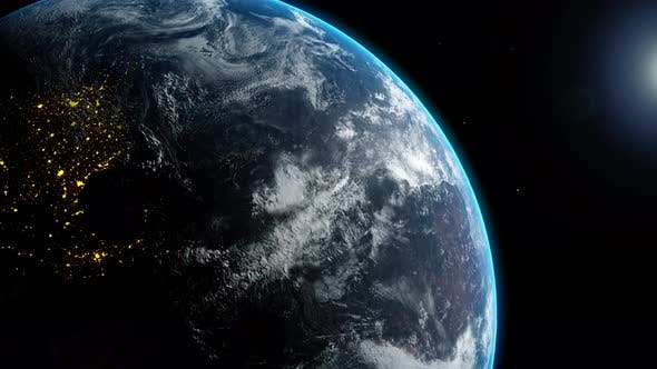 Thumbnail for Planet Earth World Globe from Space View