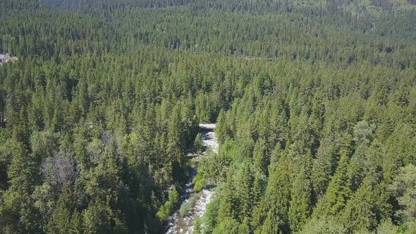 Thumbnail for Aerial Drone Revealing Beautiful Water Rapids And Mountains In The Background 1