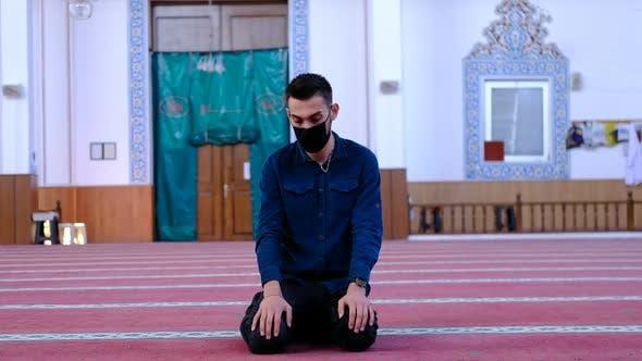 Muslim Turning His Head Mosque