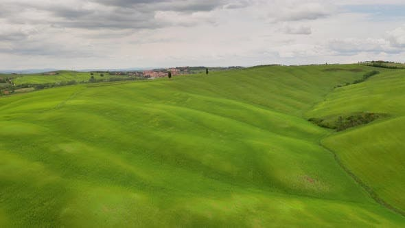 Thumbnail for Flying over the beautiful Tuscany Italy landscape