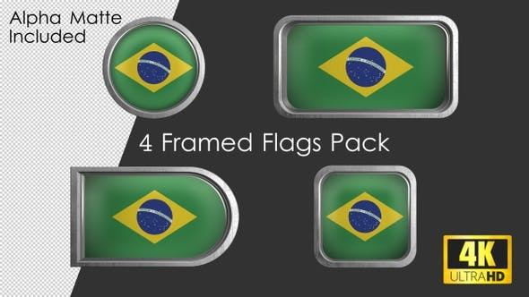 Thumbnail for Framed Brazil Flag Pack