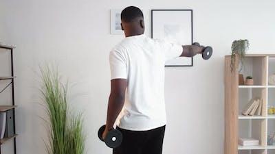 Home Sport Muscular Black Man Body Building Gym