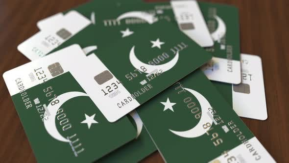 Thumbnail for Pile of Credit Cards with Flag of Pakistan