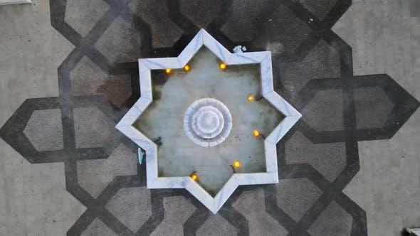 Thumbnail for Urban Decor in Park Drone Shot
