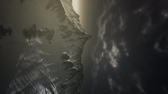 Sturmwolke über den Dolomiten
