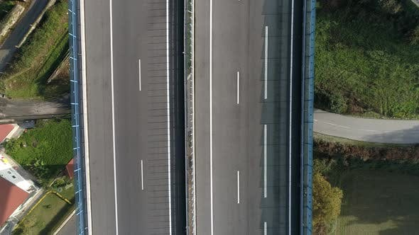 Thumbnail for Cars on Highway Aerial view