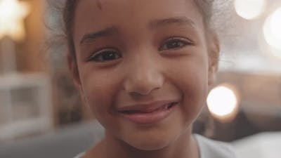 Portrait of Mixed-Race Girl Smiling