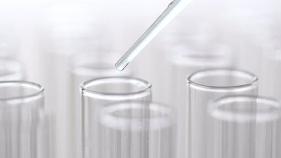 Thumbnail for Pipette dropping sample into test tube