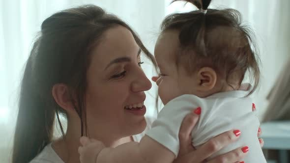 Thumbnail for Wonderful Child Kissing Mom