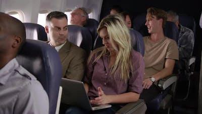 Passengers on airliner flight