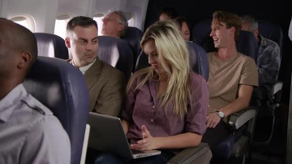 Thumbnail for Passengers on airliner flight
