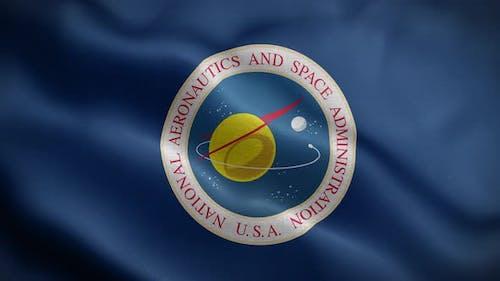 United States National Aeronautics And Space Administration Flag Loop Background 4K