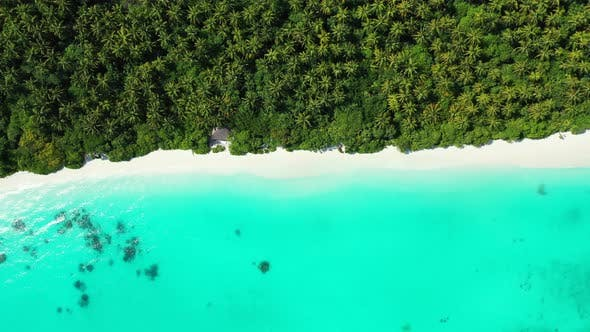 Thumbnail for Beautiful aerial abstract view of a white paradise beach and aqua turquoise water background in colo