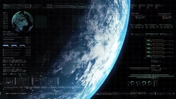 Futuristic Holographic Earth Head Up Display 03