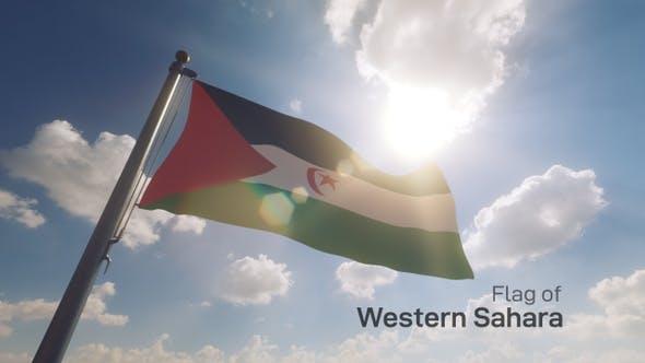 Thumbnail for Western Sahara Flag on a Flagpole V2