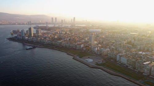 Izmir City at Aegean Coast of Turkey