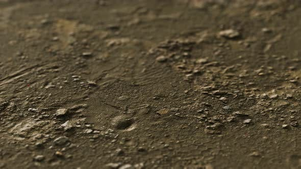 Closeup of Dirty Ground Road