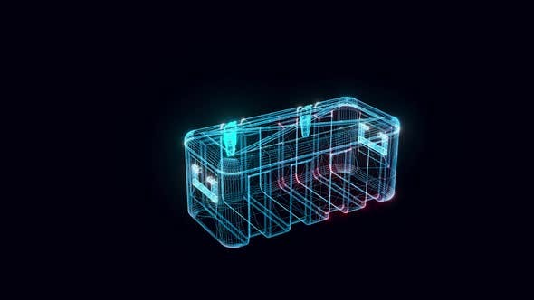 Military Box Hologram Rotating Hd