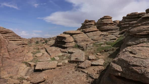 Rock Formations and Stacked Stones in Mongolia
